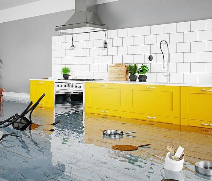 home damaged by flooding